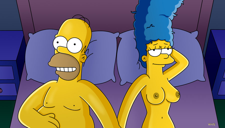 marge and homer simpson having sex