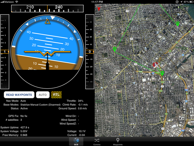 Screenshot of Ground Control Application