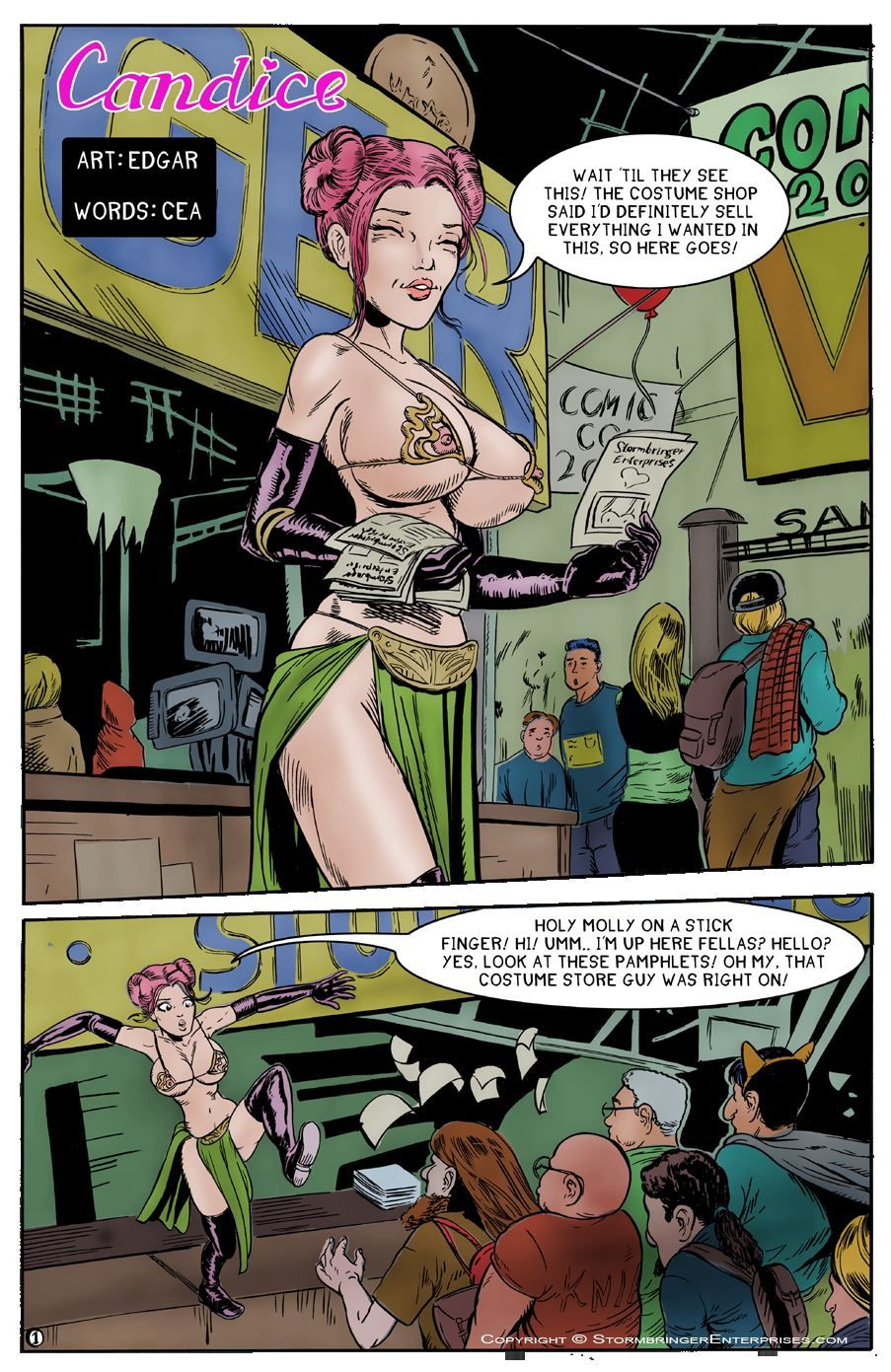 The Erotic Adventure of Candice - Comic con-sumation 5 4