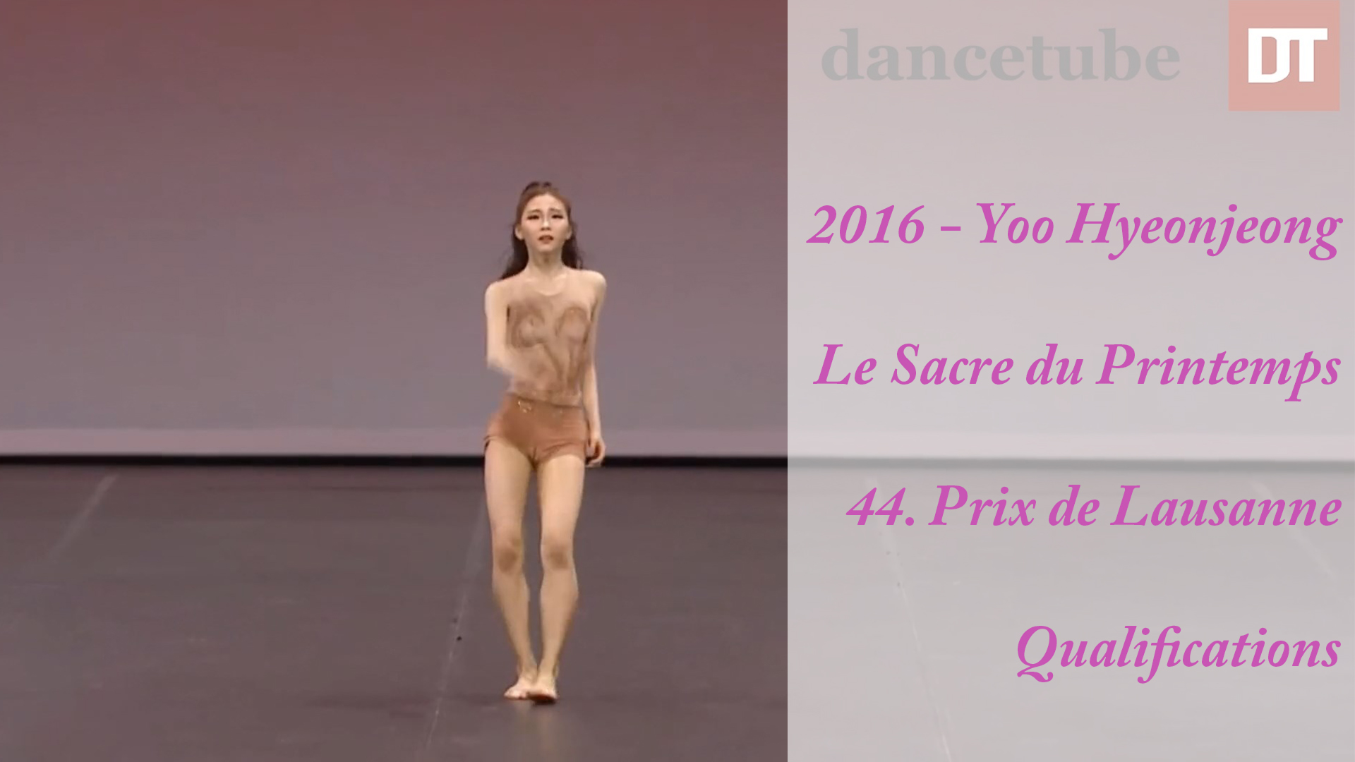 2016 – Yoo Hyeonjeong – Le Sacre du Printemps – 44. Prix de Lausanne – Qualifications