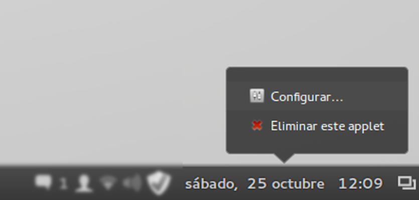LMDE, configurar el reloj de la barra (tip)