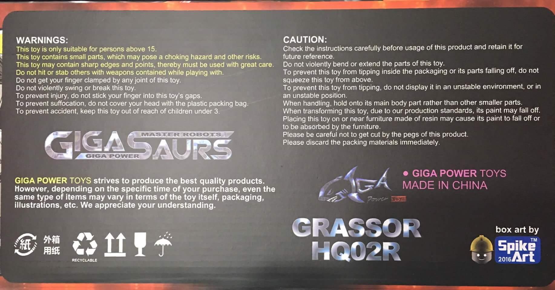 [GigaPower] Produit Tiers - Jouets HQ-01 Superator + HQ-02 Grassor + HQ-03 Guttur + HQ-04 Graviter + HQ-05 Gaudenter - aka Dinobots - Page 4 VNEKZWD2