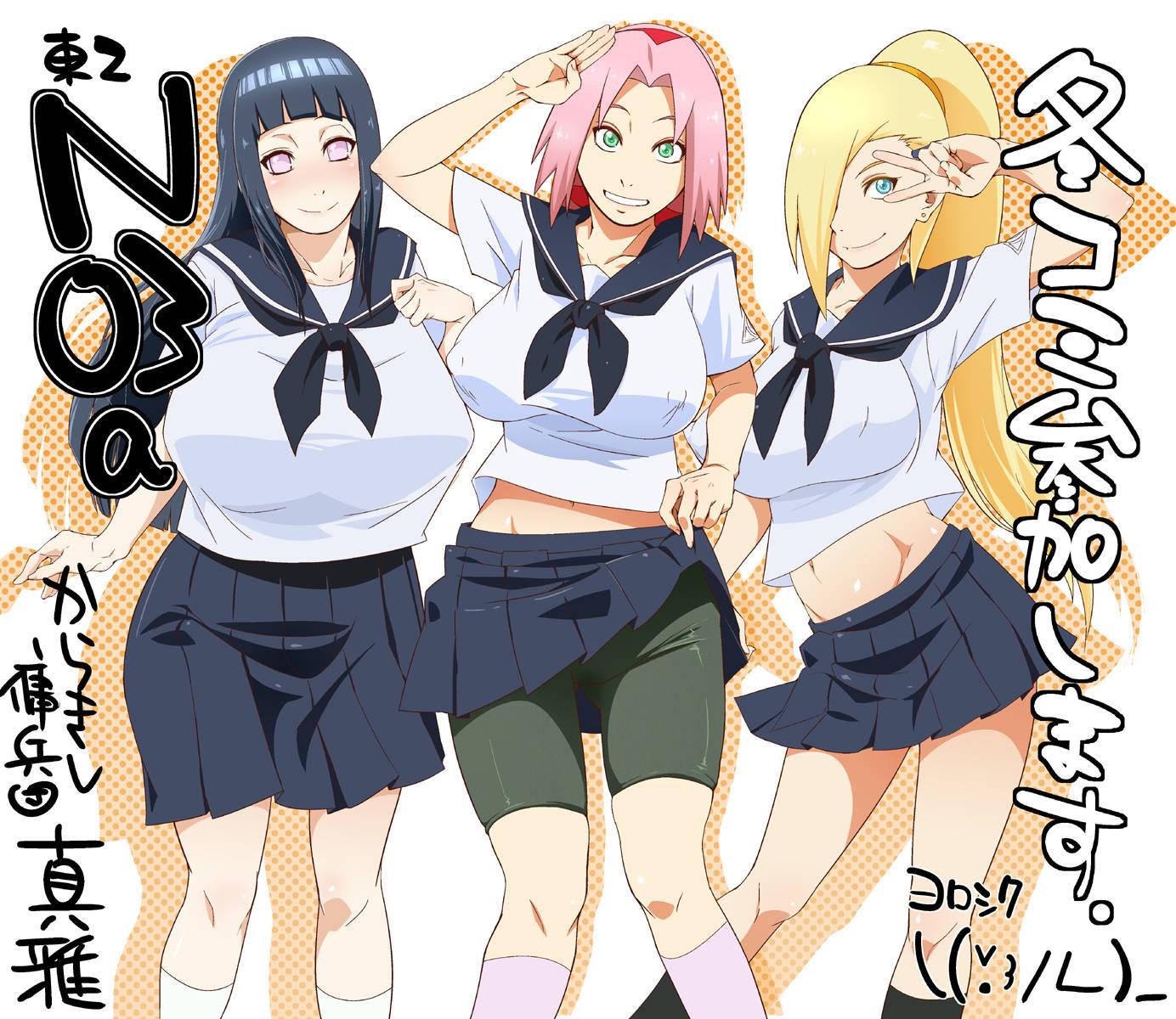 Cómic porno con Hinata, Ino Yamanaka y Sakura