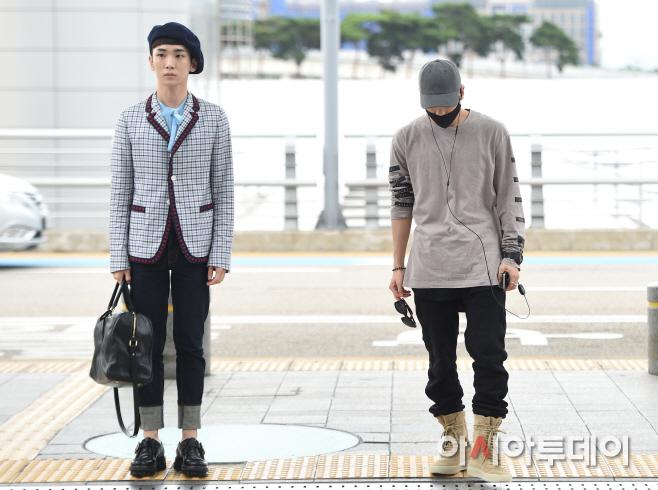 [IMG/160715] Jonghyun, Key @ Aeropuerto Incheon hacia Japón. QQgnWRDj