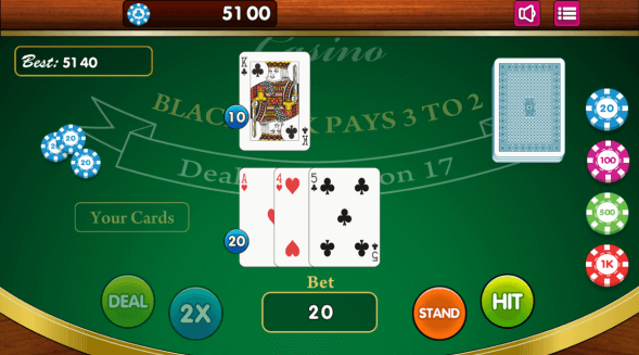 blackjack html5 game