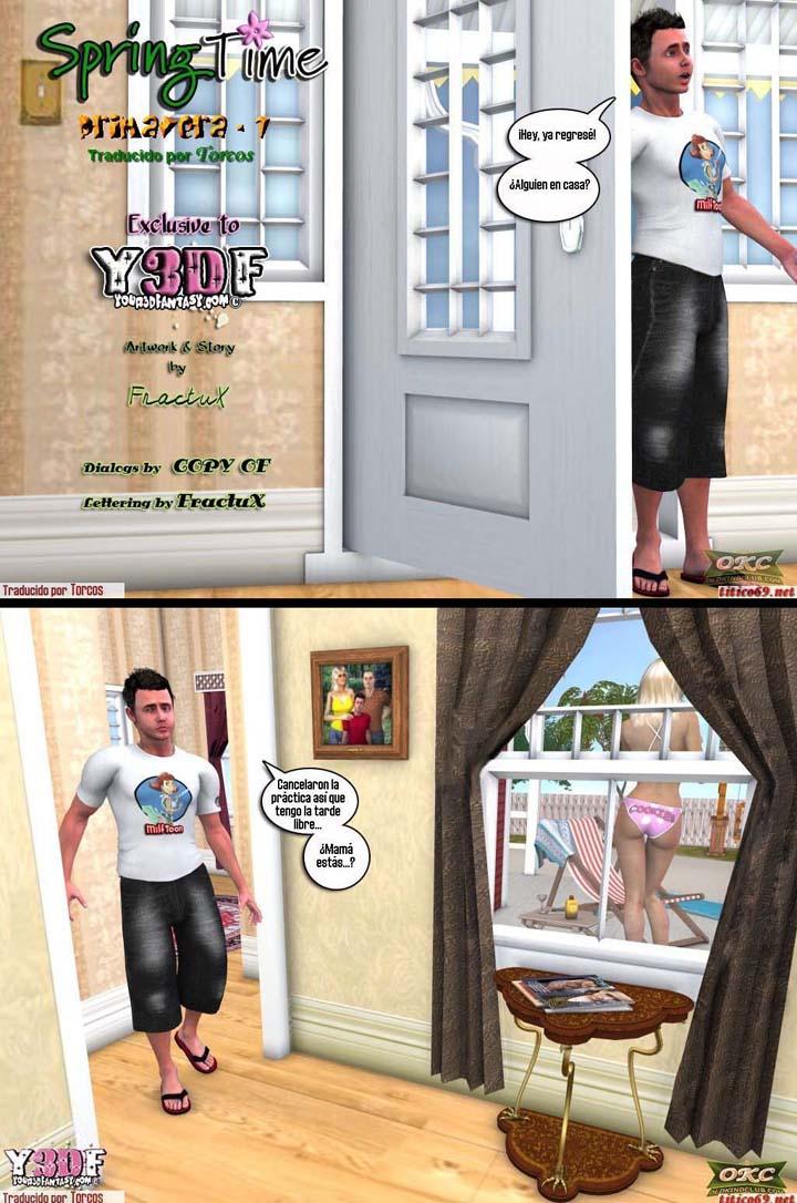 LA ZORRA DE MAMÁ 1, cómic porno incesto. Página 01.