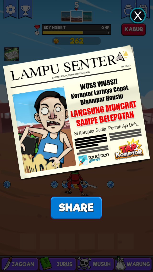 review game tap koruptor