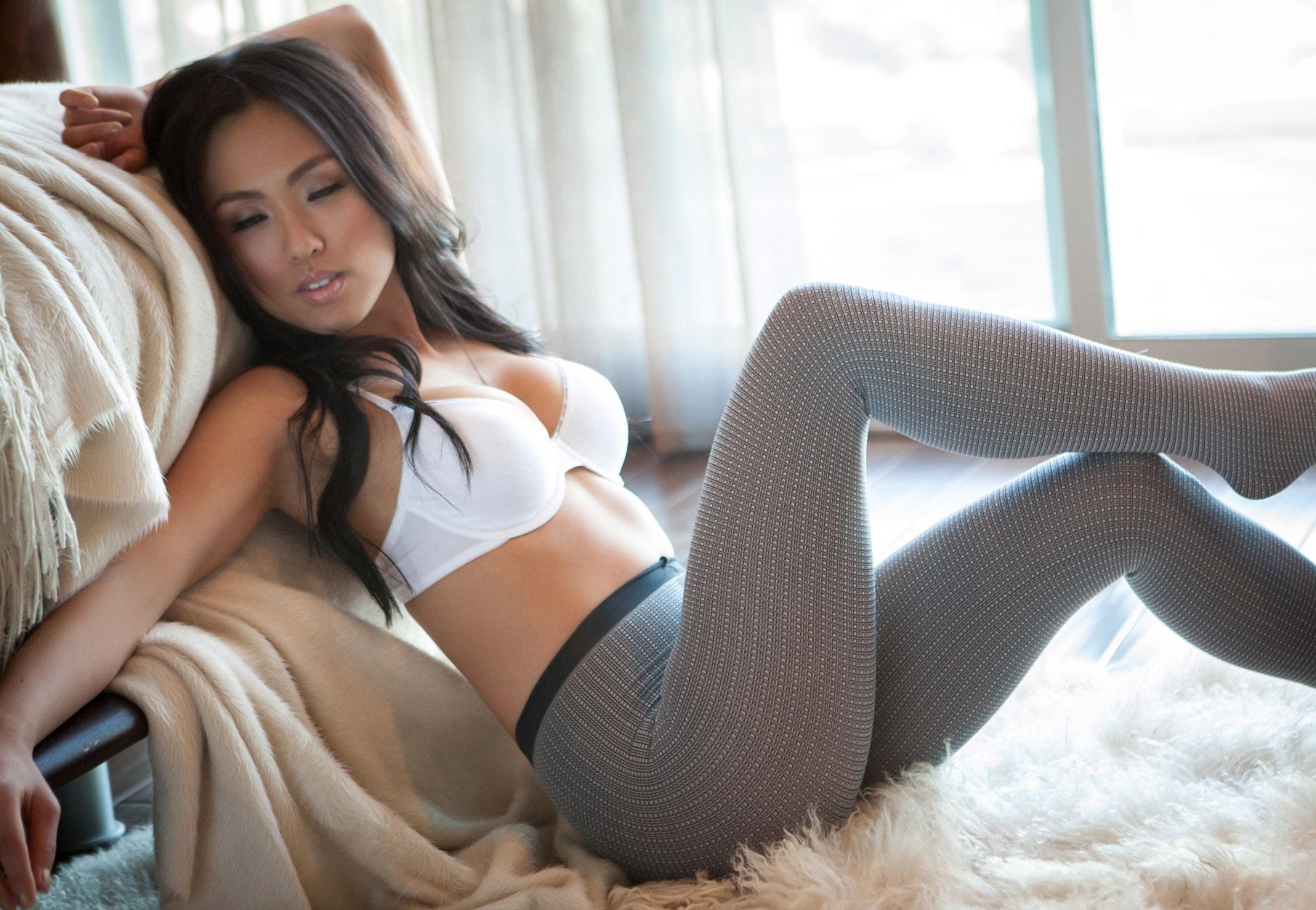 Порно фото в серых колготках