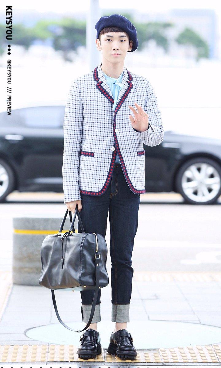 [IMG/160715] Jonghyun, Key @ Aeropuerto Incheon hacia Japón. IBVnWS4L