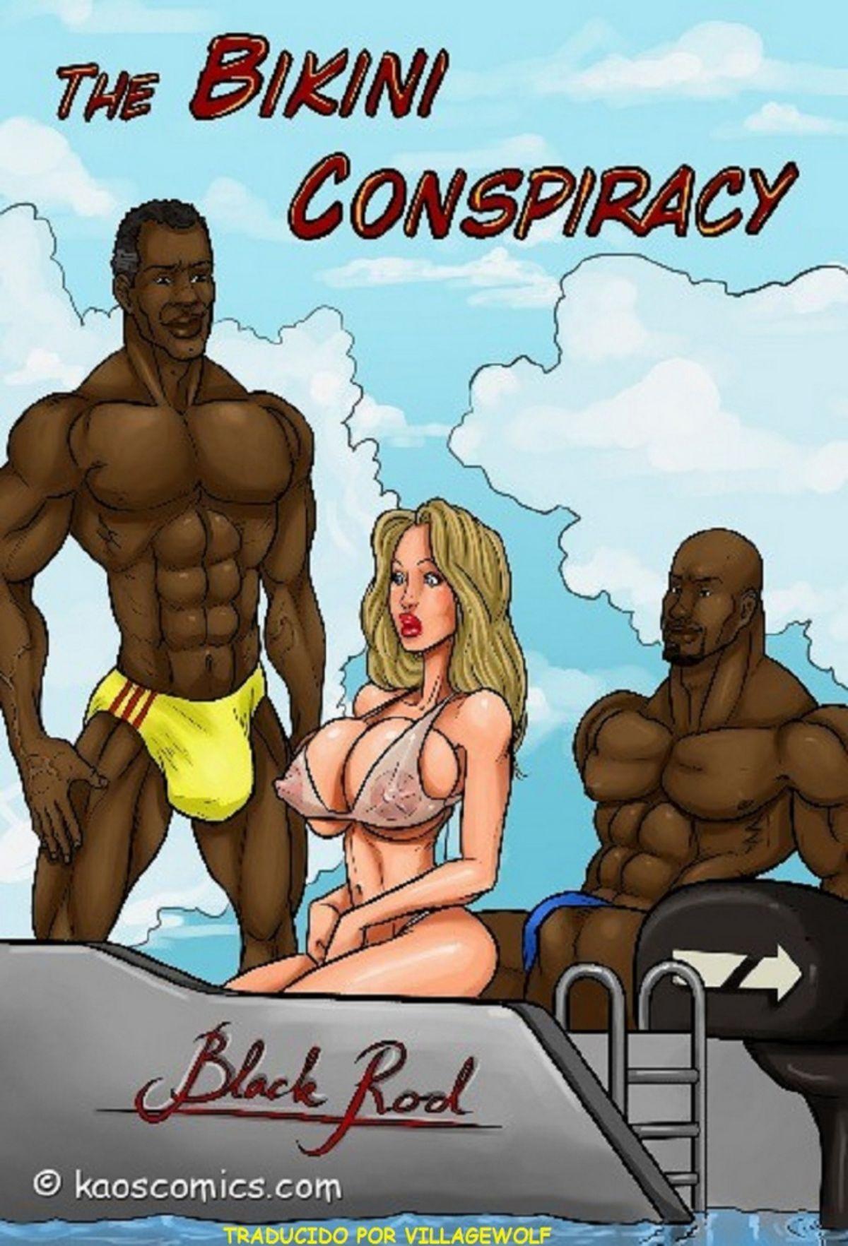 Conspiración bikini, cómic porno interracial. 01