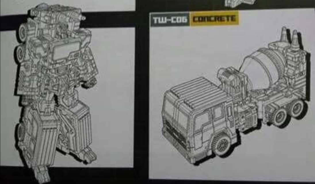 [Toyworld] Produit Tiers - Jouet TW-C Constructor aka Devastator/Dévastateur (Version vert G1 et jaune G2) TbQ5CLuS