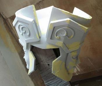 Processo de criação da Armadura de Gemeos para a exibição de Pachinko PZr0rtxW