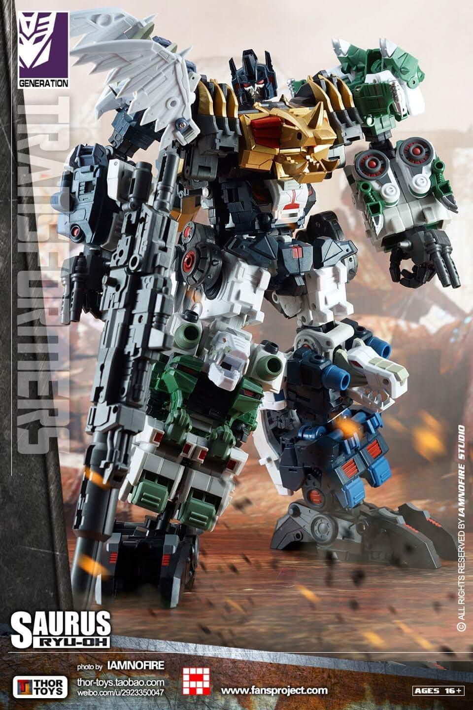 [FansProject] Produit Tiers - Jouet Saurus Ryu-oh aka Dinoking (Victory) | Monstructor (USA) - Page 2 KmewucCZ