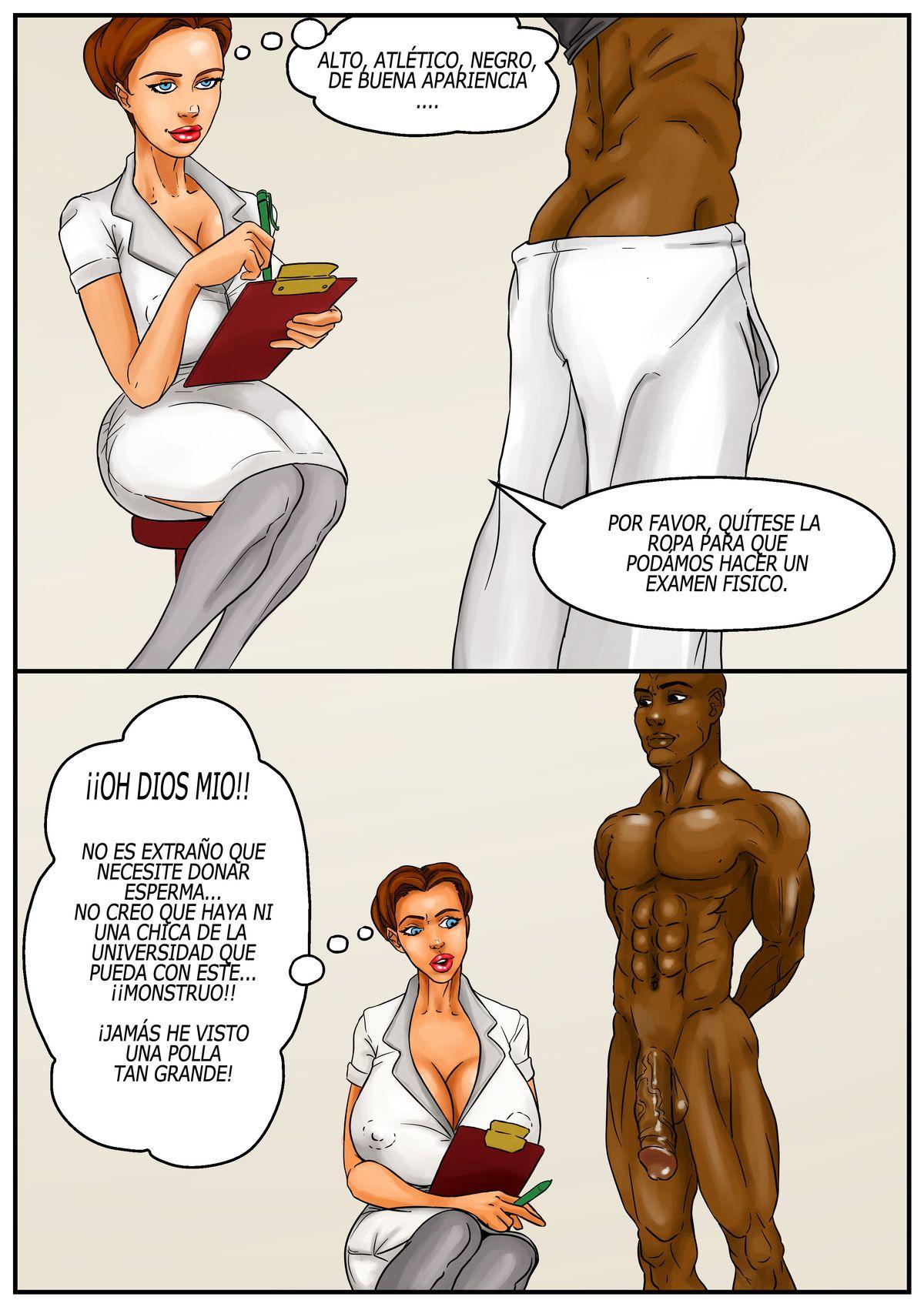 Cómic porno interracial. Banco de Esperma 03