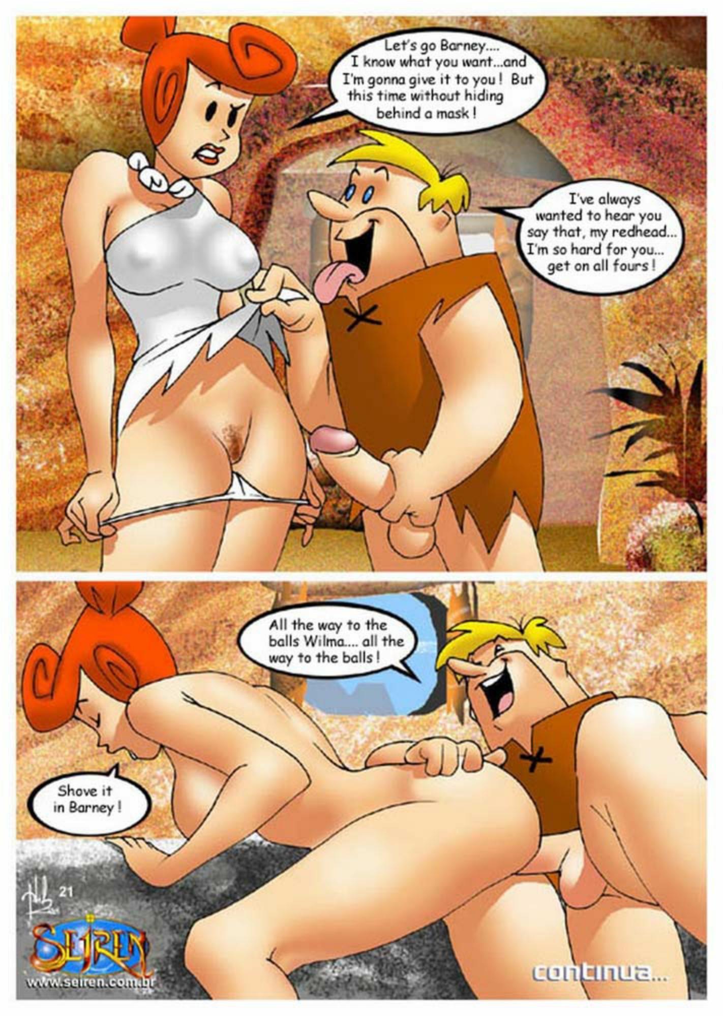 Порно флинстоуны комикс