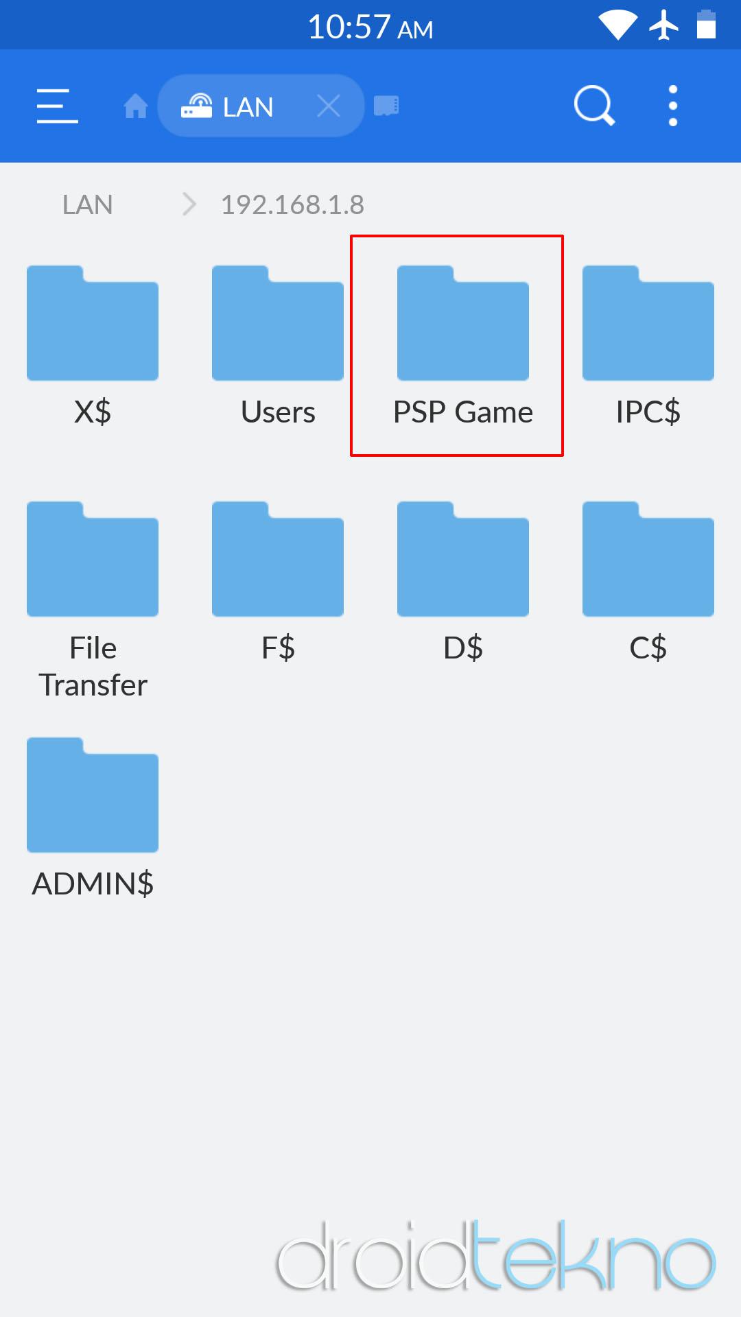 Transfer file dari pc ke android atau sebaliknya via wifi-esfile_folder_share