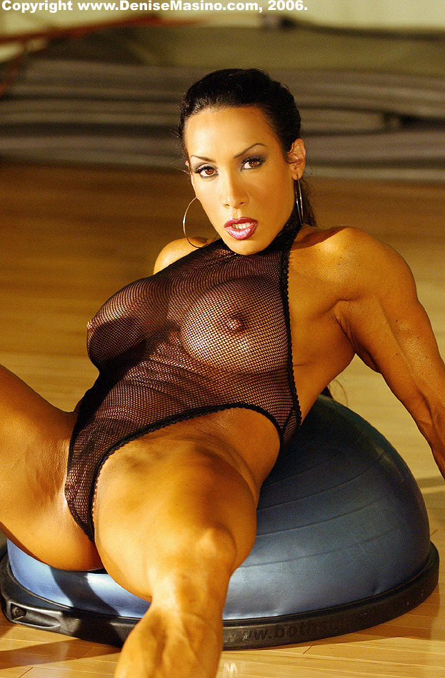 Clit denise masino muscle big