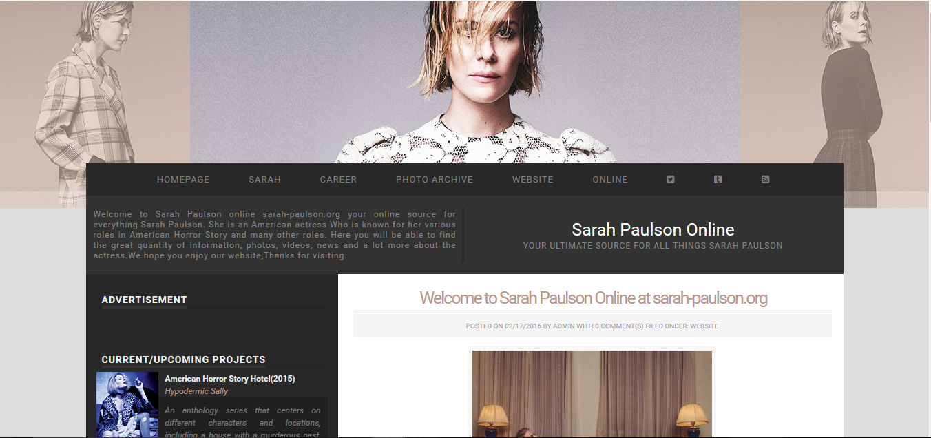 online source for Sarah Paulson