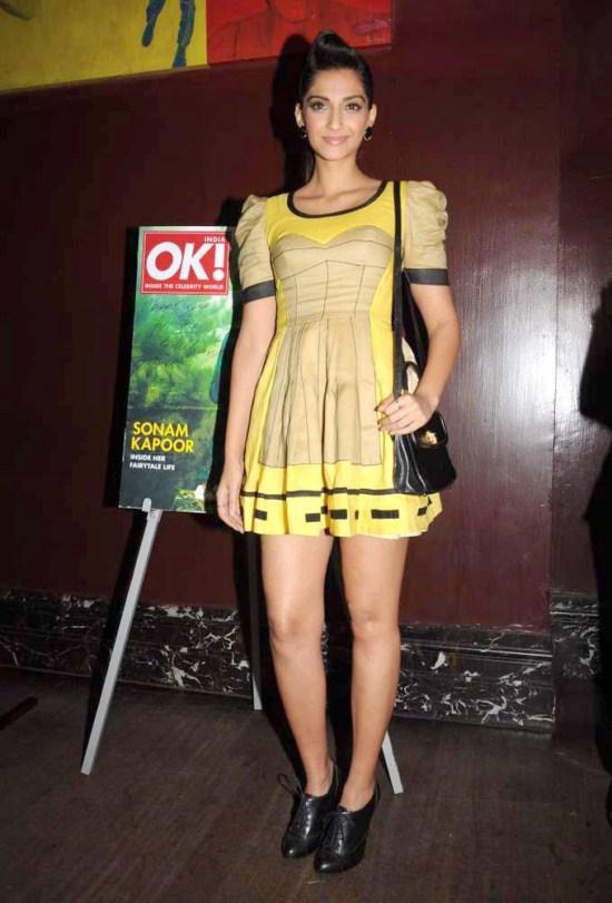 Sonam Kapoor at OK! magazine's cover launch AdiTHbP2
