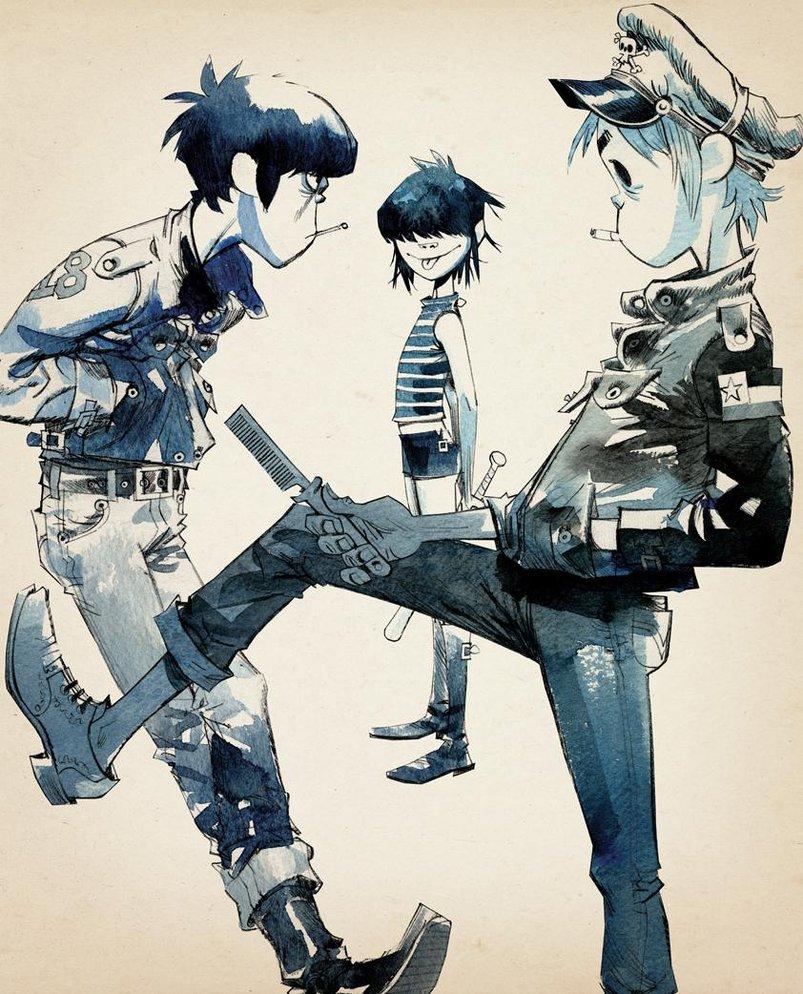 Jamie Hewlet ilustraciones (Gorillaz)