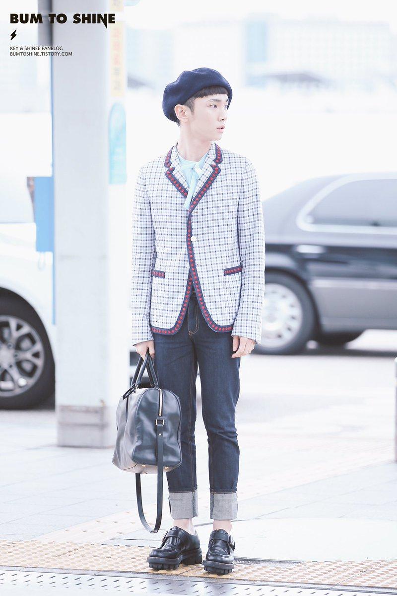 [IMG/160715] Jonghyun, Key @ Aeropuerto Incheon hacia Japón. OjRBgDST