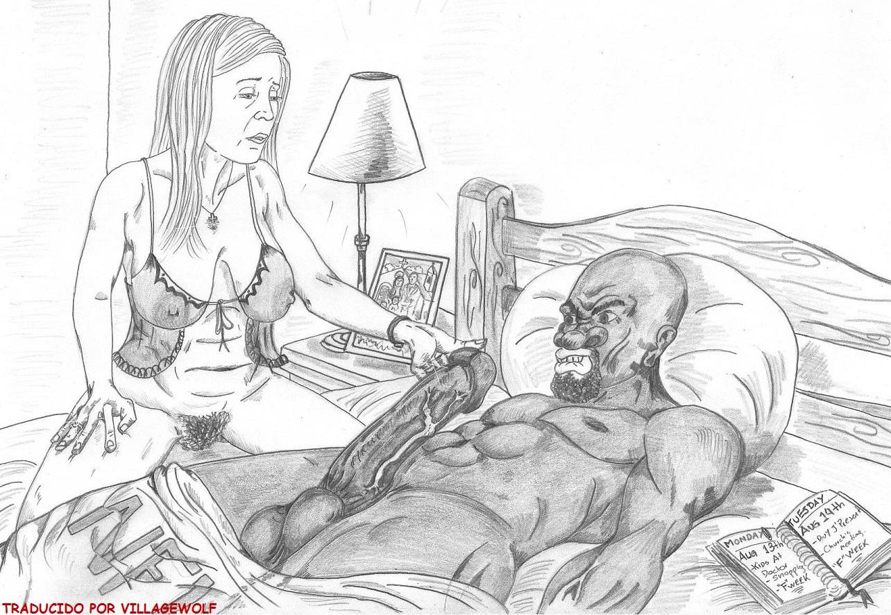 Interracial cartoon porn pics