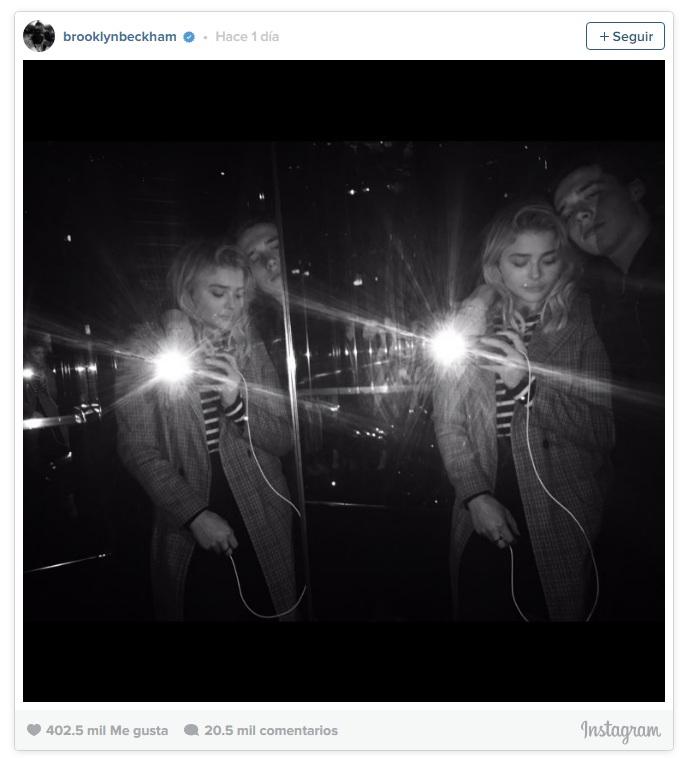 El hijo mayor de Beckham confirmo romance con Chloë Moretz