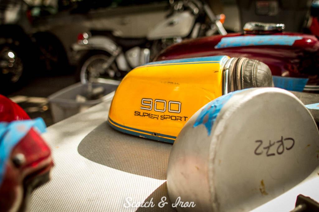 cafe racer rear seat tail section vintage supersport