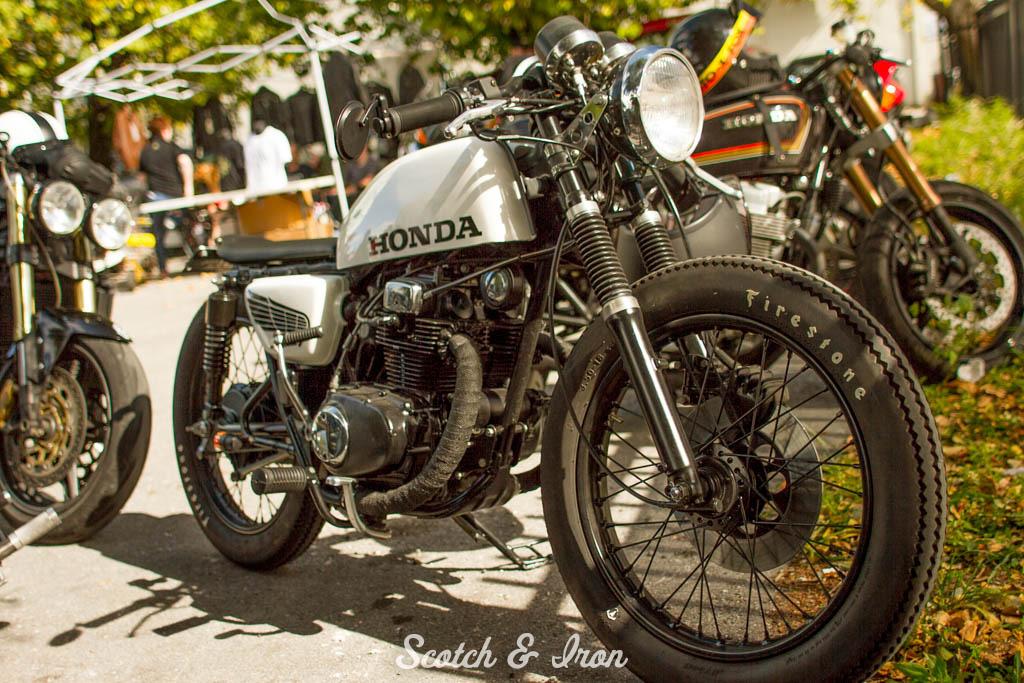 honda cb200 cafe racer white