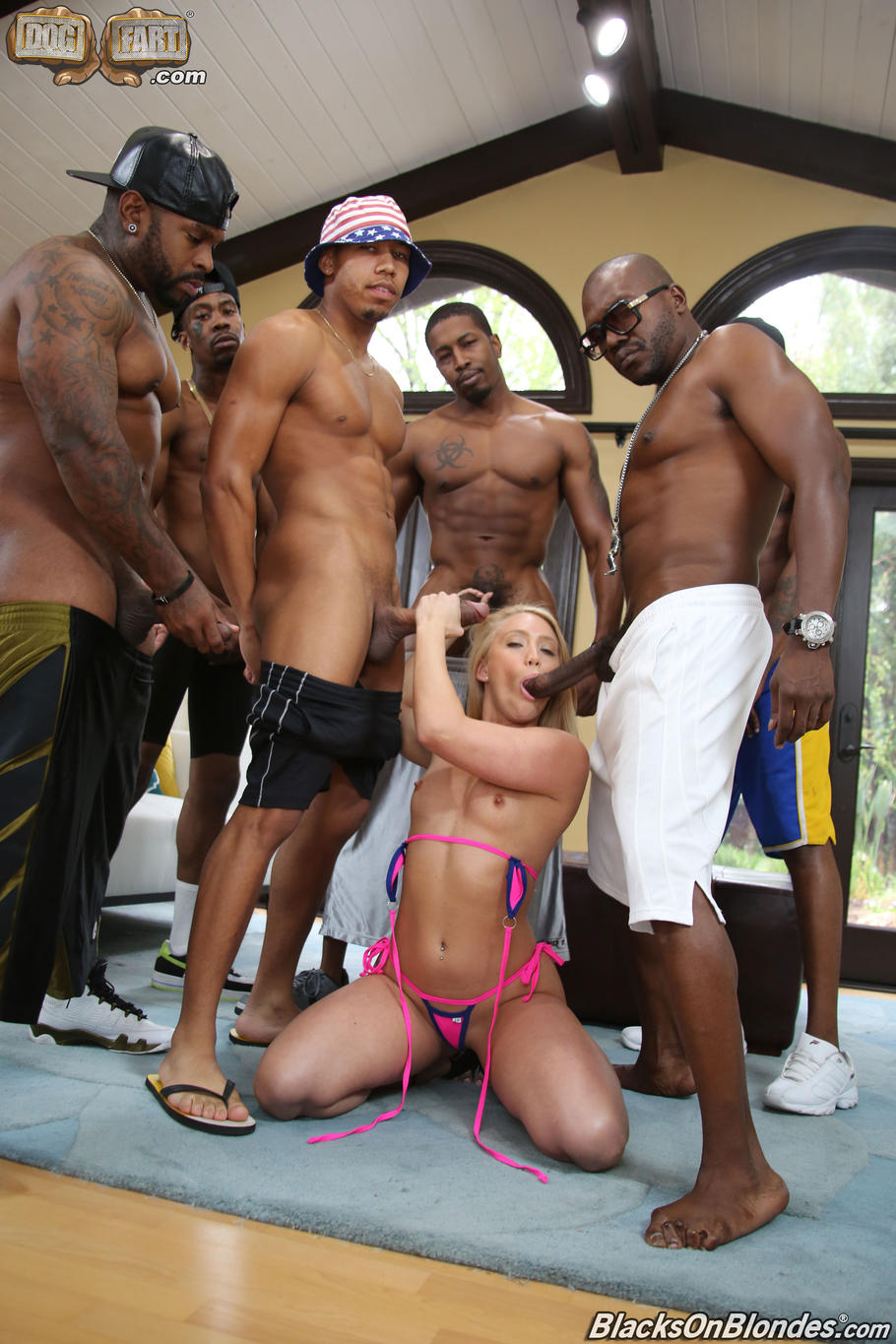 Black attack gang bang julia blond
