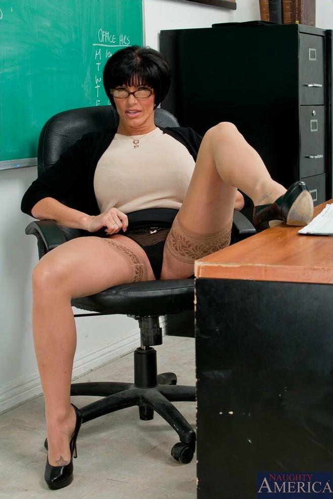 Dani in black stockings 8