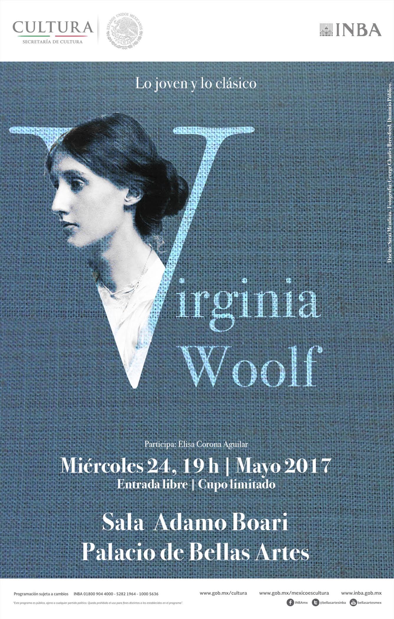 Abordarán la obra de Virginia Woolf  en el ciclo Lo joven y lo c