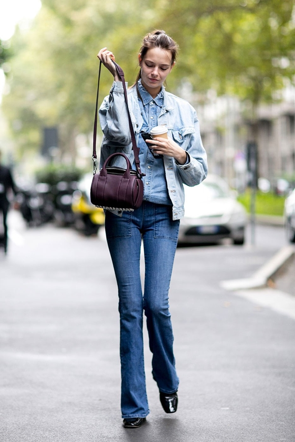 47d0e104e5 Flared Jeans  Street Style of New York Fashion Week Fall Winter 2016 ...