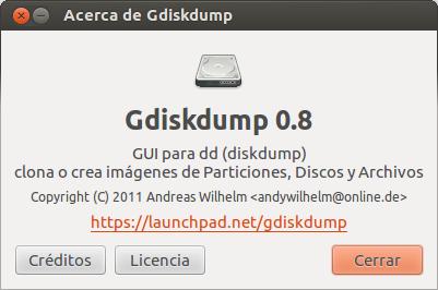 Clona un disco duro o una partición con gDiskDump