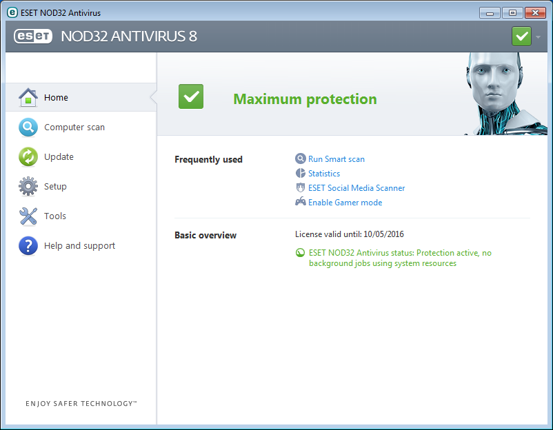 eset nod32 antivirus & smart security 9.0.318 serial key