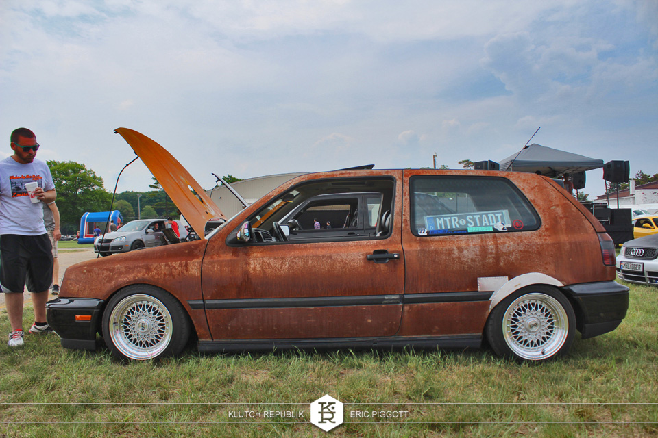 rusted mk3 gti on esm wheels