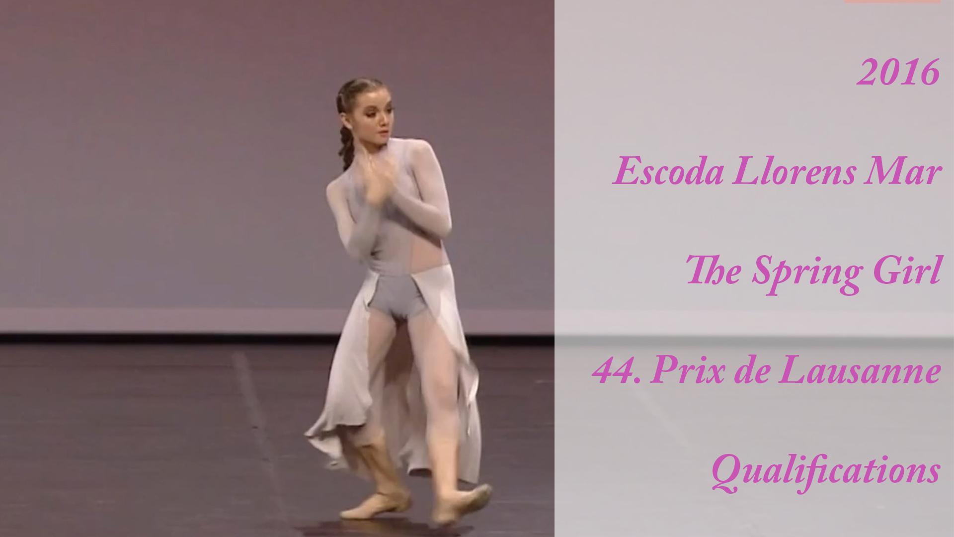 2016 – Escoda Llorens Mar – The Spring Girl – 44. Prix de Lausanne – Qualifications