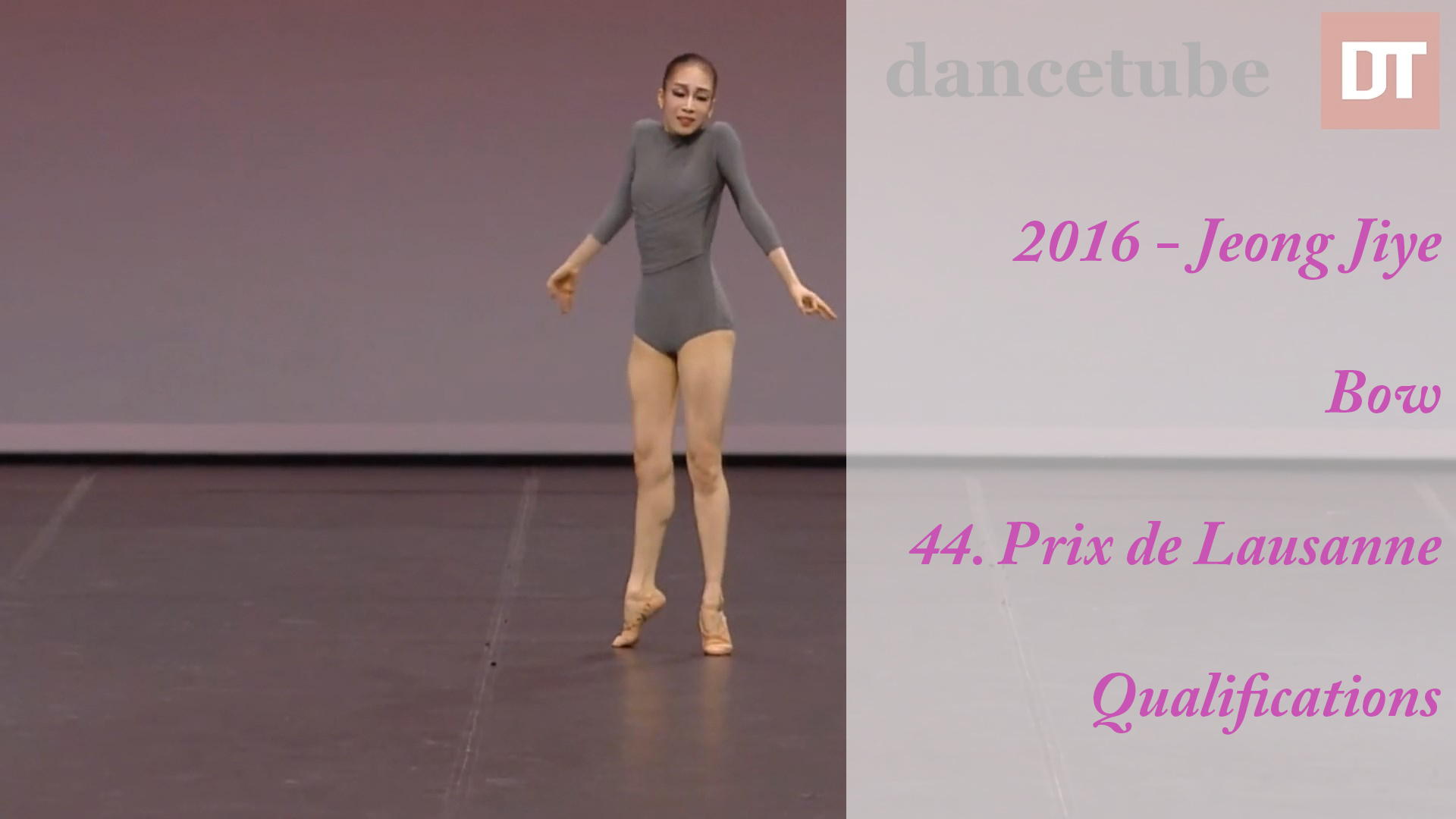 2016 – Jeong Jiye – Bow – 44. Prix de Lausanne – Qualifications