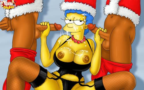 marge simpson sexo negros