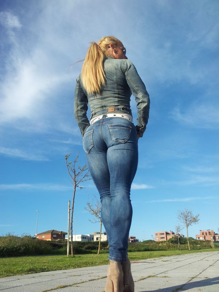 tight pants wedges up the ass girls