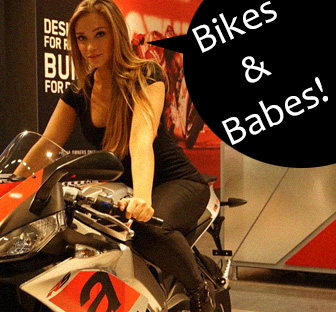 bikes & babes, biker babes, hot chicks and motorcycles, female motorcyclists
