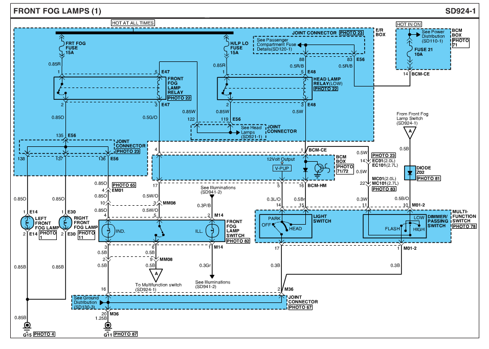 Fog Light    Wiring       Diagram     New    Tiburon    Forum      Hyundai