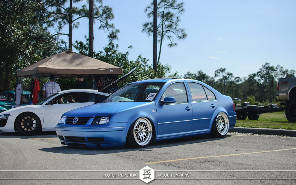 matte blue vw gli jetta ccw wheels