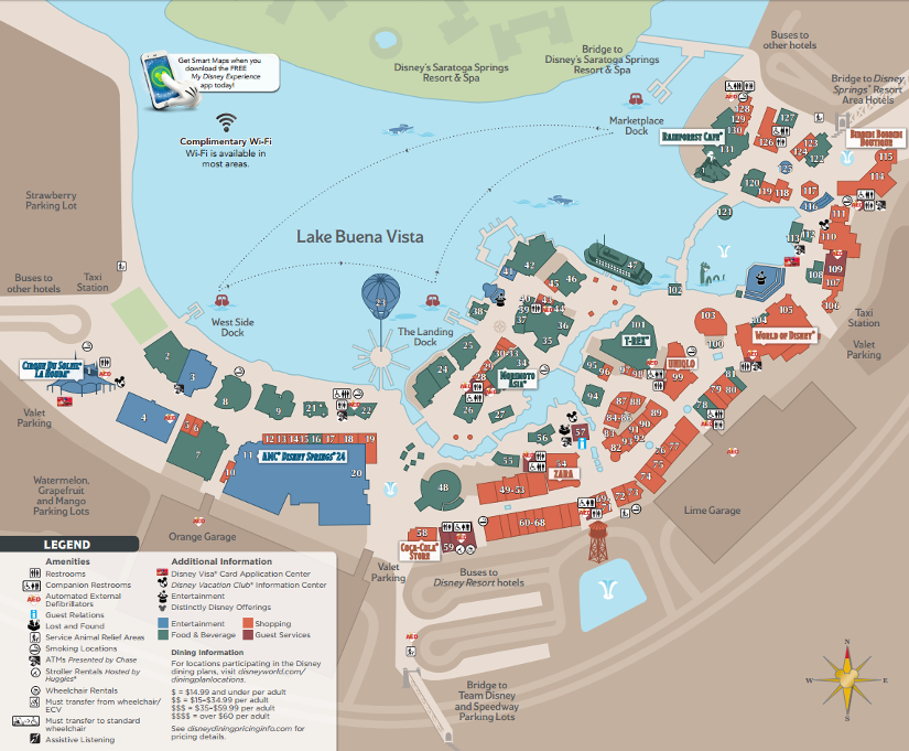 Aizlmir8. Updated Disney Springs Maps to Be Available Starting April 9