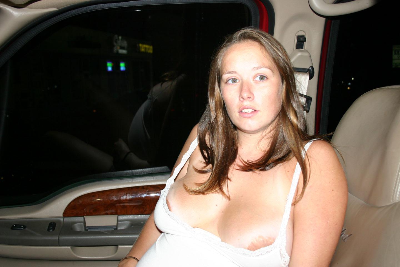 Amateur car blowjob porn