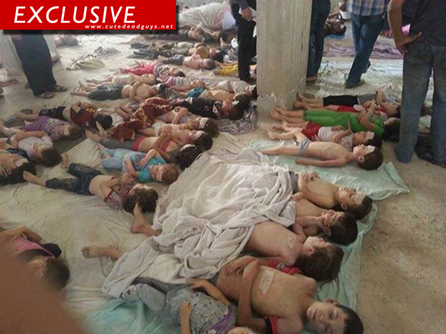 Morgue in Syria after the chemical attack insane pic