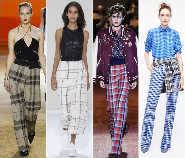 Plaid pants spring/summer 2016