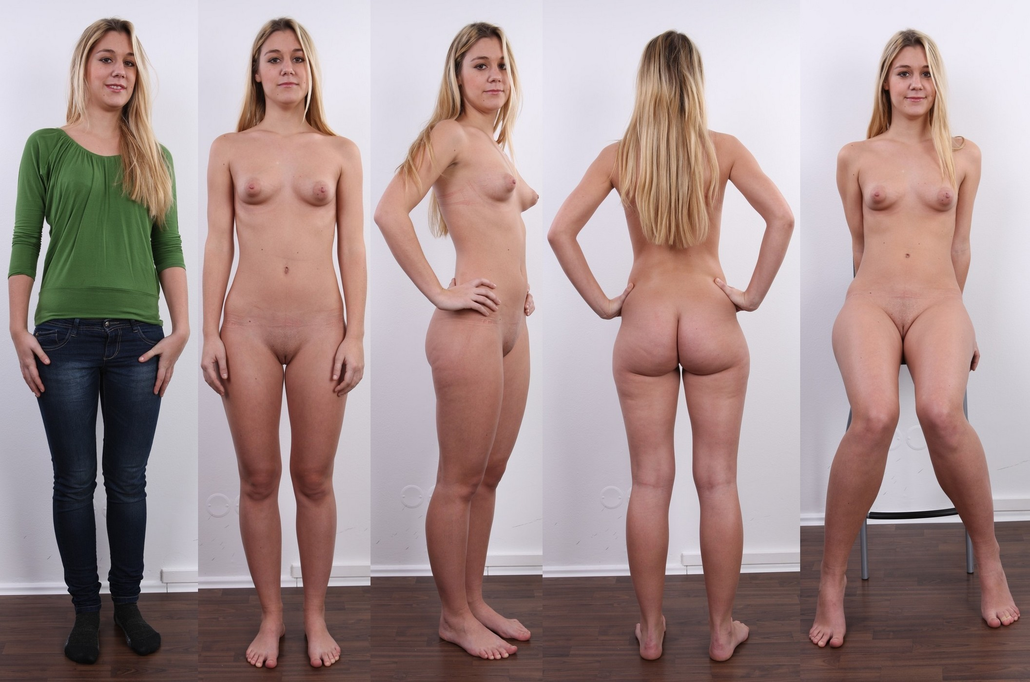 Naked girl lineup found