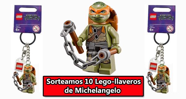 Regalamos diez Lego-llaveros de Michelangelo, la Tortuga Ninja ¡Apuntate a nuestro concurso!