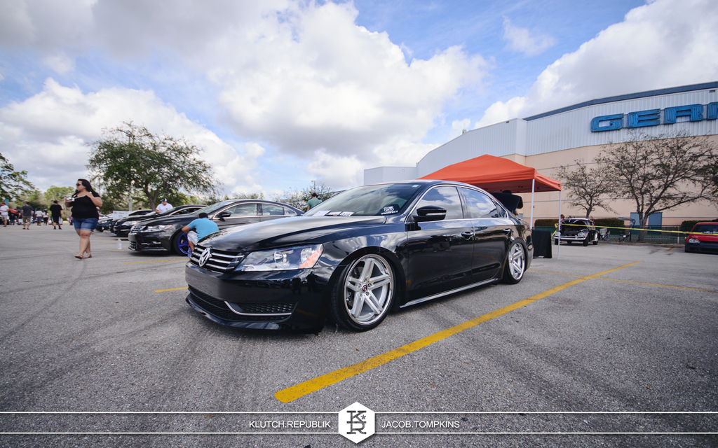 black bagged passat air slammed